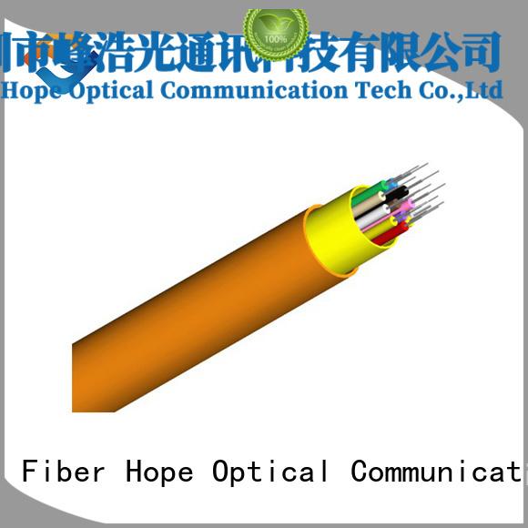 Fiber Hope fast speed indoor fiber optic cable excellent for transfer information