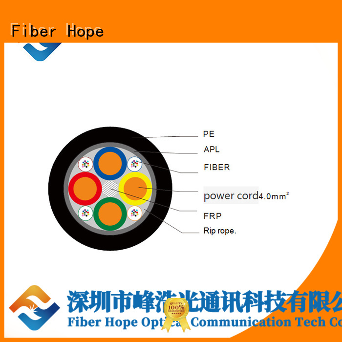 Fiber Hope cost saving composite fiber optic cable excelent for network system
