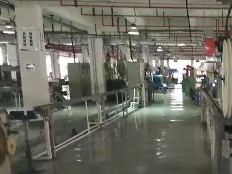 Ftth drop Optical cable workshop production line