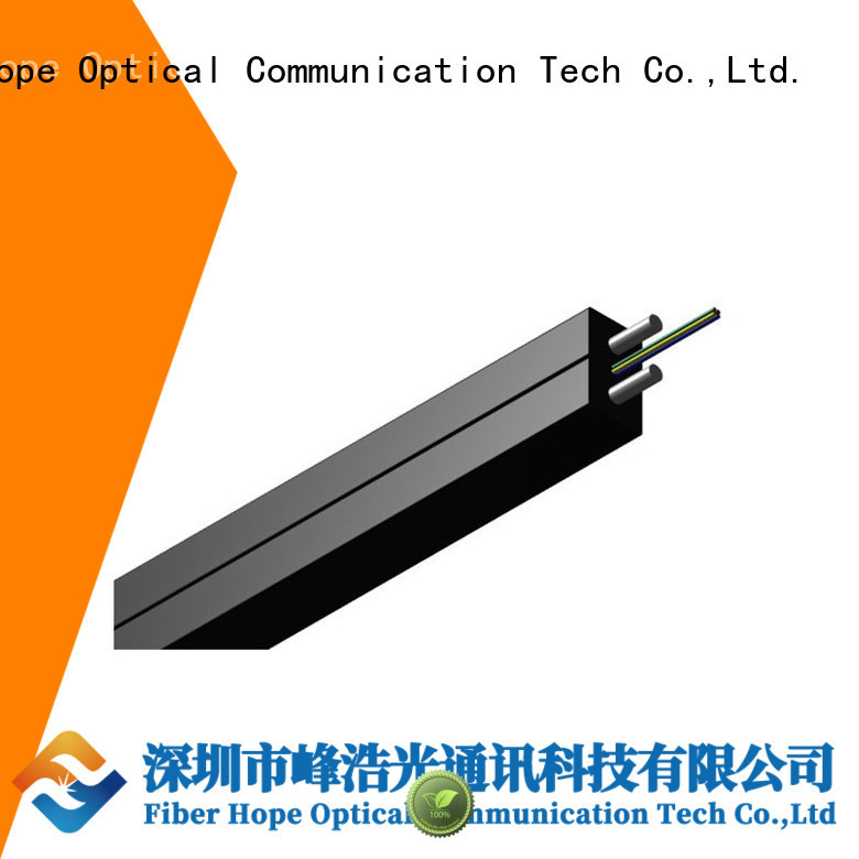 Fiber Hope strong practicability fiber optic drop cable widely employed for building incoming optical cables