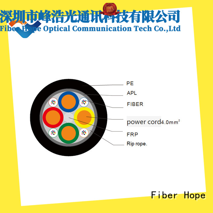 Fiber Hope cost saving 4 core cable network system