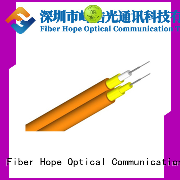 Fiber Hope good interference multimode fiber optic cable satisfied with customers for communication equipment