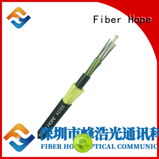 Fiber Hope mechanical design adss fiber optic cable with good price for