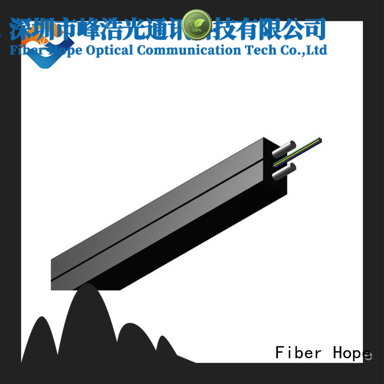Fiber Hope fiber optic drop cable widely employed for user wiring for FTTH
