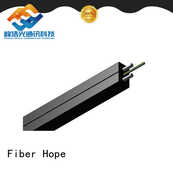 Fiber Hope environmentally friendly ftth drop cable widely employed for network transmission