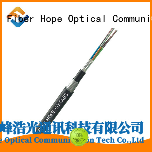 Fiber Hope waterproof multimode fiber optic cable good for outdoor