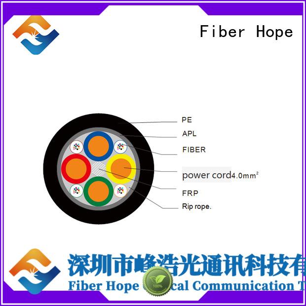 Fiber Hope composite fiber optic cable suitable for communication system
