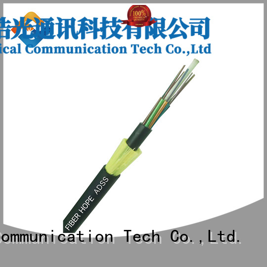 high performance adss fiber optic cable lightning