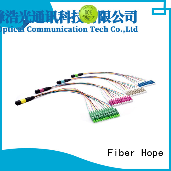 Fiber Hope fiber optic patch cord popular with communication industry