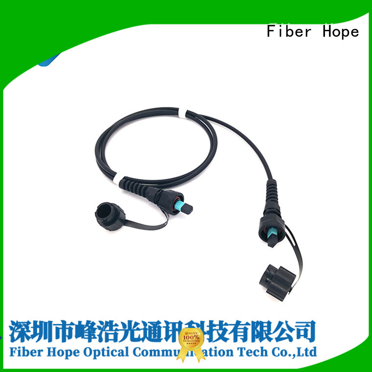 mpo to lc breakout cable used for communication industry Fiber Hope