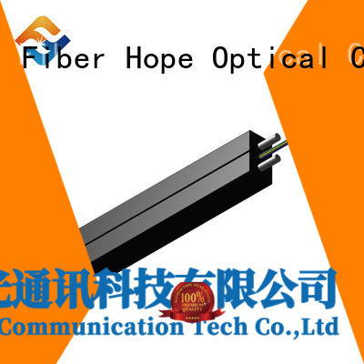 Fiber Hope strong practicability ftth drop cable widely employed for user wiring for FTTH