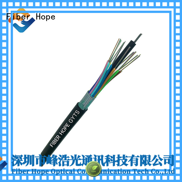 Fiber Hope thick protective layer armored fiber optic cable ideal for networks interconnection