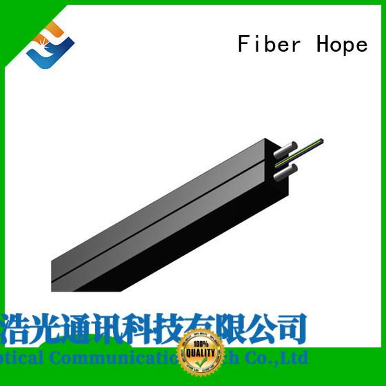 Fiber Hope fiber optic drop cable applied for indoor wiring