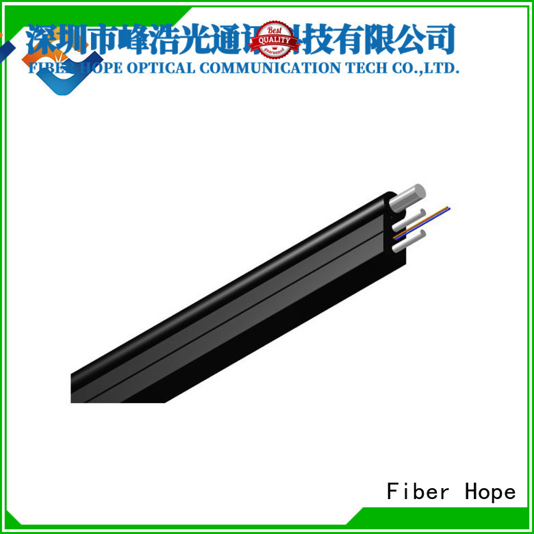 Fiber Hope strong practicability ftth drop cable suitable for network transmission