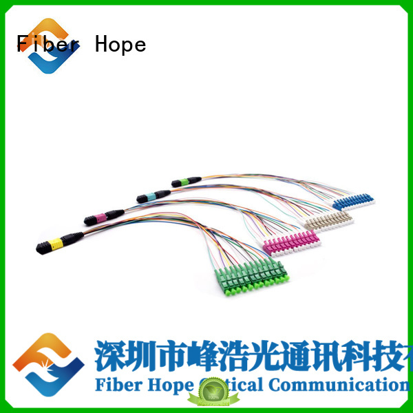 Fiber Hope mpo cable popular with communication systems