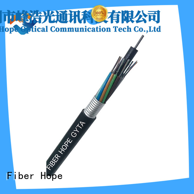 Fiber Hope thick protective layer outdoor fiber cable best choise for networks interconnection