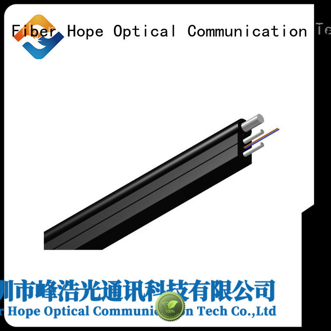 Fiber Hope light weight ftth drop cable suitable for network transmission