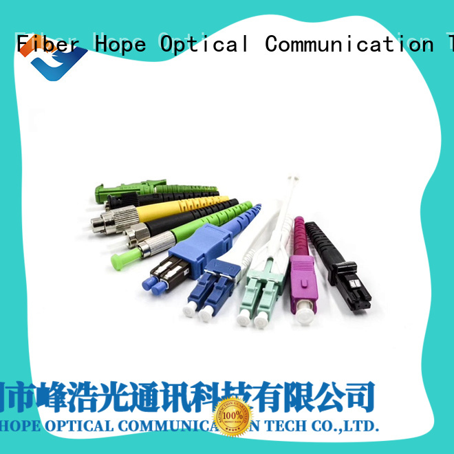 Fiber Hope fiber optic patch cord used for WANs