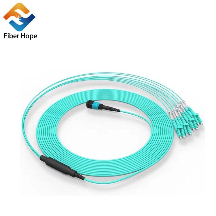 MPO/MTP Fanout connecor jumper Fiber optic Patchcord