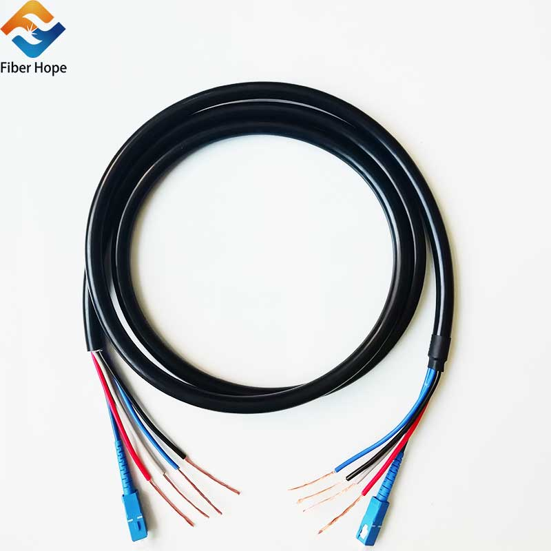 news-New product :photoelectric composite cable armored patchcoord SC-SC connector-Fiber Hope-img