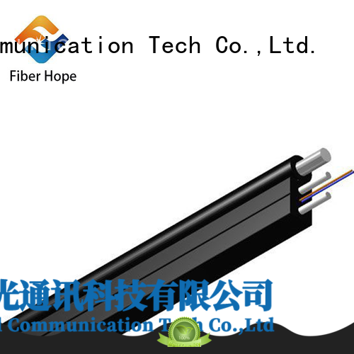 Fiber Hope strong practicability fiber optic drop cable with many advantages indoor wiring